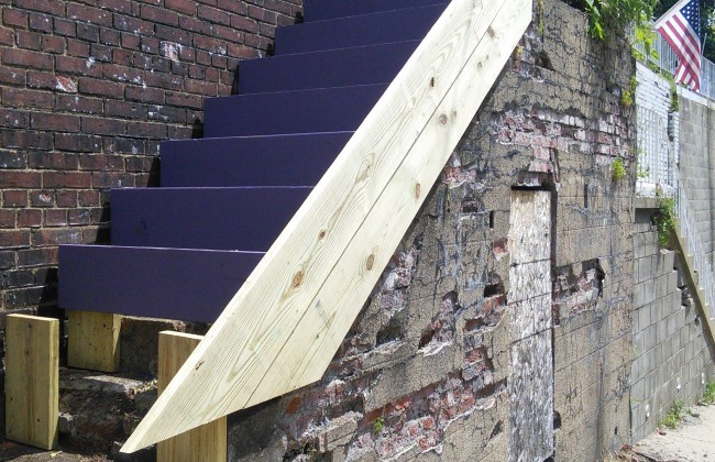 The Stair Planter Boxes are Taking Shape